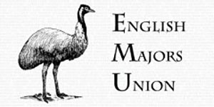 Image of an EMU bird - acronumm for English Majors Union