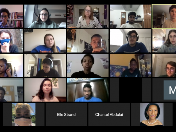 Professor Jaji and her students meet on Zoom for African Diaspora Literature: Black Lives Matter