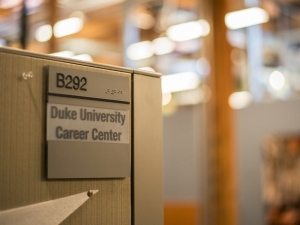 Duke's Career Center is looking to change the perception that it isn't the place to go for students pursuing careers in the arts. Photo by Anthony Alvernaz | The Chronicle