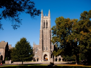 The Duke University Chapel on the campus in Durham, N.C. (Lance King / Getty Images)