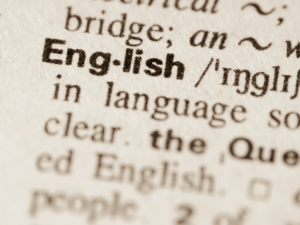 "Istock/Getty image of the definition for ""English"""