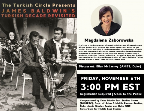 "Flyer for ""James Baldwin in Istanbul"" event"